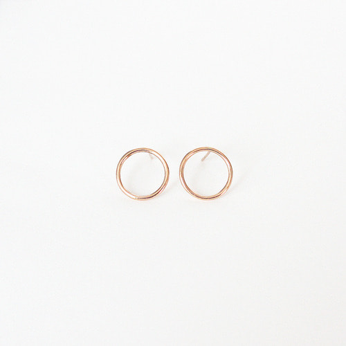 [14K GOLD] Open Circle Earring 오픈서클 귀걸이