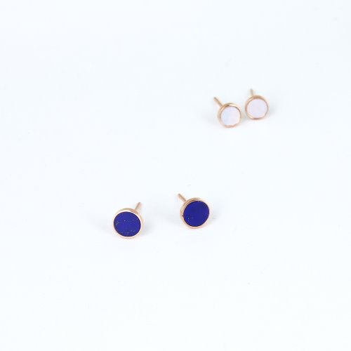 [14K GOLD] Tiny Lapis Earring 타이니 라피스